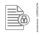 locked document file with a...