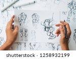 animator designer development... | Shutterstock . vector #1258932199