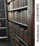 old antique bookshelf | Shutterstock . vector #1258935853