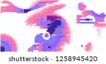 abstract vector background dot... | Shutterstock .eps vector #1258945420