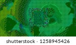 abstract vector background dot... | Shutterstock .eps vector #1258945426