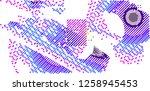 abstract vector background dot... | Shutterstock .eps vector #1258945453