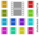 film strip icon in multi color. ...