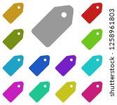 tag icon in multi color. simple ...