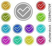 checkmark icon in multi color....
