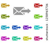 arrow on an mail envelope icon...