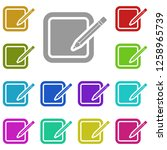 document with pencil icon in...