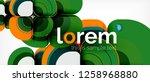 geometric modern abstract... | Shutterstock .eps vector #1258968880