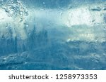 the texture of the ice. the... | Shutterstock . vector #1258973353