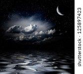 Night Sky Stars Reflecting In...
