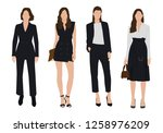 vector of young  business woman ...