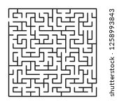 abstract maze   labyrinth with... | Shutterstock .eps vector #1258993843
