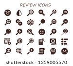 review icon set. 30 filled... | Shutterstock .eps vector #1259005570