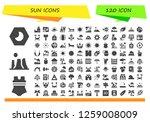 sun icon set. 120 filled sun... | Shutterstock .eps vector #1259008009