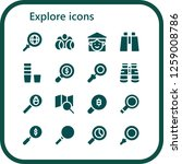 explore icon set. 16 filled... | Shutterstock .eps vector #1259008786