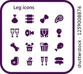 leg icon set. 16 filled leg... | Shutterstock .eps vector #1259008876