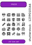 press icon set. 25 filled... | Shutterstock .eps vector #1259010166