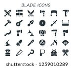 blade icon set. 30 filled... | Shutterstock .eps vector #1259010289