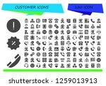 customer icon set. 120 filled...   Shutterstock .eps vector #1259013913