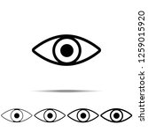 eye icon in different shapes ...