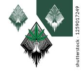 hand drawing weed ritual logo... | Shutterstock .eps vector #1259017249