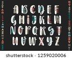 vector brush pen handwritten... | Shutterstock .eps vector #1259020006