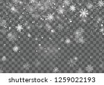 christmas snow. christmas... | Shutterstock .eps vector #1259022193