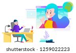 vector illustrations concept of ... | Shutterstock .eps vector #1259022223