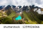 aerial view of humantay lake in ... | Shutterstock . vector #1259026066