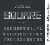 font and alphabet vector  line... | Shutterstock .eps vector #1259027683