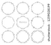 set of decorative round frames... | Shutterstock .eps vector #1259028199