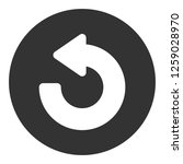 refresh icon. undo vector sign. ... | Shutterstock .eps vector #1259028970