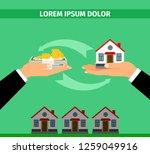 buy house convert banner... | Shutterstock . vector #1259049916