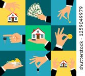 buy house hands illustration.... | Shutterstock . vector #1259049979