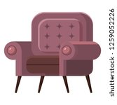 chair cute furniture armchair... | Shutterstock .eps vector #1259052226