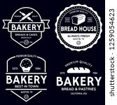bakery logotypes set. bakery...   Shutterstock .eps vector #1259054623