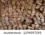 folios of old manuscripts in...   Shutterstock . vector #1259057293