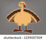 turkey cartoon vector | Shutterstock .eps vector #1259057509