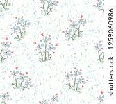 little flowers. seamless...   Shutterstock .eps vector #1259060986