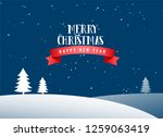 merry christmas winter... | Shutterstock .eps vector #1259063419