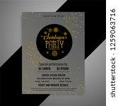 elegant christmas flyer... | Shutterstock .eps vector #1259063716
