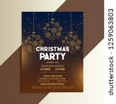 christmas festival flyer design ... | Shutterstock .eps vector #1259063803