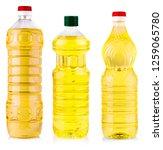 bottle of sunflower oil...   Shutterstock . vector #1259065780