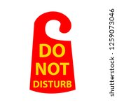 do not disturb icon | Shutterstock .eps vector #1259073046