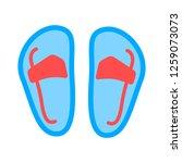vector sandal illustration | Shutterstock .eps vector #1259073073