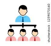 organisation chart icon | Shutterstock .eps vector #1259073160