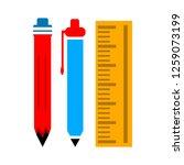 pen pencil ruler icon | Shutterstock .eps vector #1259073199