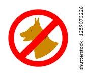 no pets icon | Shutterstock .eps vector #1259073226