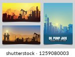 silhouette of jack up drilling... | Shutterstock .eps vector #1259080003