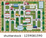 plan of the city. side view.... | Shutterstock .eps vector #1259081590